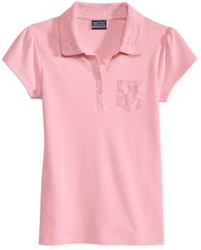 Nautica Uniform Lace-Trim Polo, Big Girls Plus