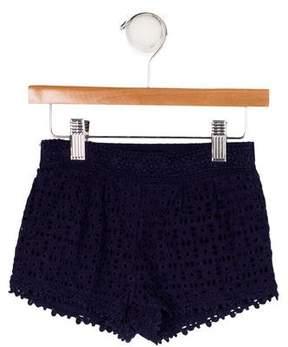 Ella Moss Girls' Eyelet Mini Shorts