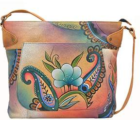 Anuschka Anna by Genuine Leather Convertible Tote | Hand-Painted Original Artwork |