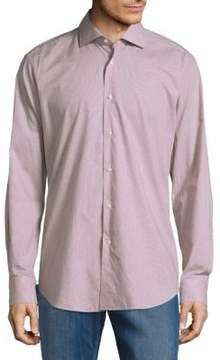 Pal Zileri Regular-Fit Micro Check Sportshirt