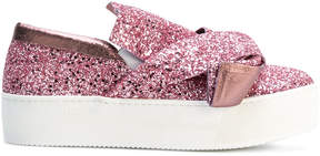 No.21 glitter slip-on sneakers