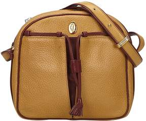Cartier Vintage C Brown Leather Handbag