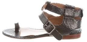 Laurence Dacade Leather Metallic Sandals