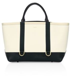Sacai Hybrid Large Colorblock Leather Tote