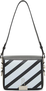 Off-White Black Diagonal Binder Clip Bag