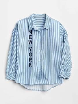 Gap Logo Stripe Shirt