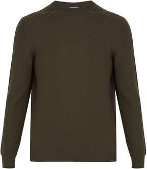 Ermenegildo Zegna Zigzag-knit wool and cashmere-blend sweater