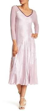 Komarov Embellished V-Neck Contrast Panel Dress