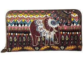 Sakroots Artist Circle Large Zip Around Wallet