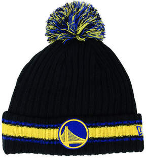 New Era Golden State Warriors Basic Chunky Pom Knit Hat