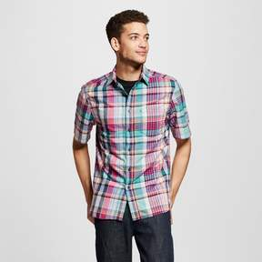 Mossimo Men's Short Sleeve Button Down Shirt Plaid