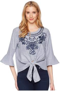Bishop + Young Embroidered Blouse Women's Clothing