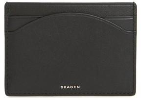 Skagen Women's Leather Card Case - Black