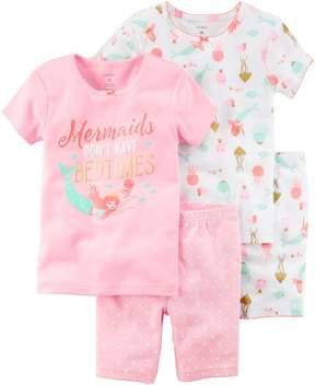 Carter's Baby Girls 4-pc. Mermaid Bedtimes Pajama Set