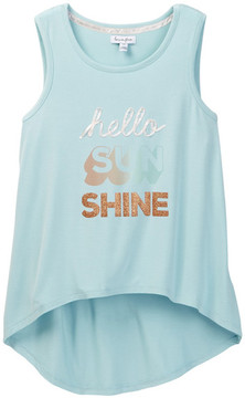Love, Fire Hello Sunshine 3D Screen Tank (Big Girls)