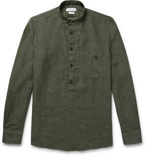 Richard James Grandad-Collar Linen Shirt