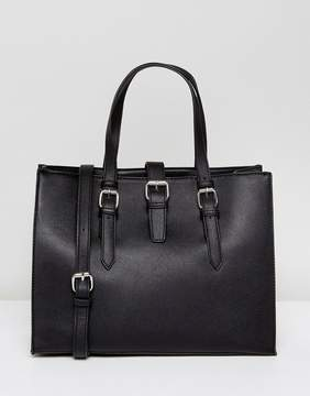 Pieces Buckle Tote Bag
