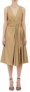 Derek Lam 10 Crosby Women's Gathered Cotton Poplin Wrap Dress
