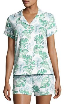 BedHead Palm Leaf-Print Short Pajama Set, Multi Pattern