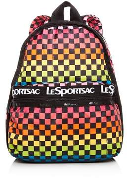 Le Sport Sac Candace Rainbow Check Backpack