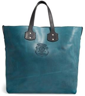 Ghurka Broadway Ii Leather Tote - Blue/green
