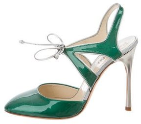 Pollini Metallic Cutout Pumps