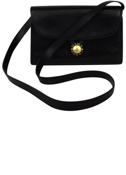 Nina Ricci Black Textured Leather Crossbody