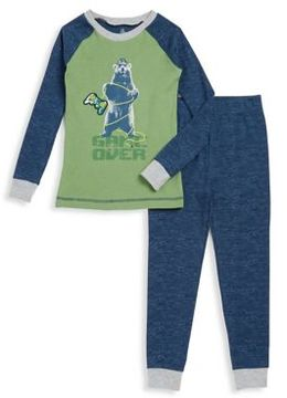 Petit Lem Little Boy's Two-Piece Cotton-Blend Long-Sleeve Top and Pants Set