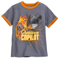 Disney Chewbacca ''Chewie is My Copilot'' Ringer T-Shirt for Kids - Solo: A Star Wars Story