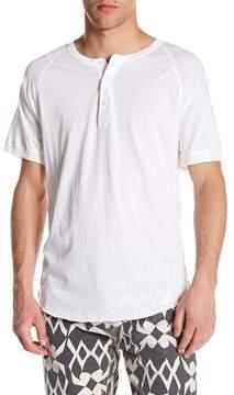 Save Khaki Short Sleeve Jersey Henley Tee