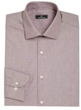 Saks Fifth Avenue 611 New York Micro Check Dress Shirt