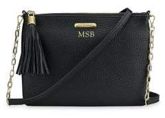 GiGi New York Personalized Chelsea Pebbled Leather Crossbody Bag