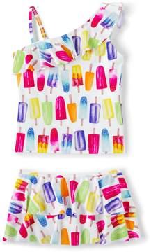 Lands' End Lands'end Girls Plus Skirted Tankini Swimsuit Set
