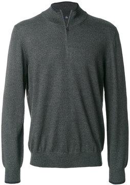 Fay zipped polo sweater