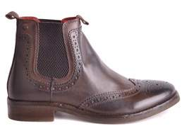 Base London Men's Brown Leather Ankle Boots.