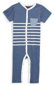 7 For All Mankind Baby Boy's Striped Coverall