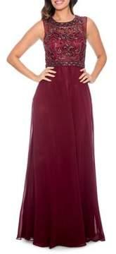 Decode 1.8 Beaded Chiffon Long Evening Dress