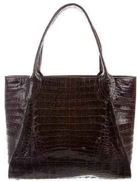 Nancy Gonzalez Pleated Crocodile Tote