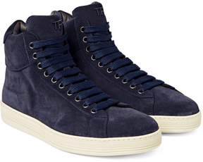 Tom Ford Russel Suede High-Top Sneakers