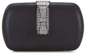 Kate Landry Pave Sequin Bow Hinge Clutch