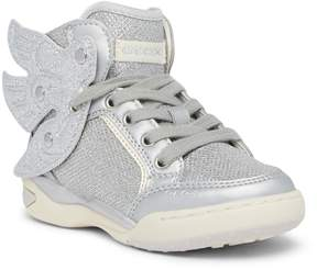 Geox Ayko Winged Metallic Hi Top Sneaker (Little Kid & Big Kid)