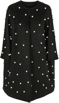 Edward Achour Pearl Embellished Coat