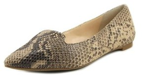 INC International Concepts Aadi Women Pointed Toe Synthetic Tan Flats.
