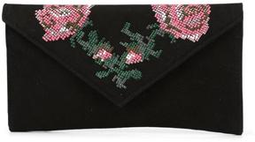 Women's REIKA2 - Floral Embellished Kid Suede Clutch