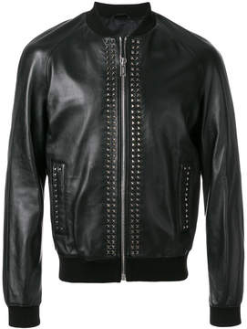 Les Hommes studded zip up bomber jacket