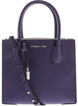 Michael Kors Women's Medium Mercer Bonded Leather Tote Shoulder Bag - Iris - IRIS - STYLE