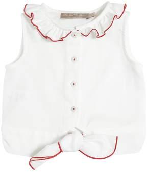 La Stupenderia Cotton Oxford Crop Shirt