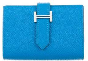 Hermes 2017 Epsom Mini Bearn Wallet - BLUE - STYLE