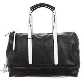 Karl Lagerfeld Bicolor Leather Satchel