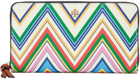 Tory Burch Kerrington Zip Continental Wallet - ZIGZAG STRIPE - STYLE